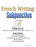 Subjunctive Writing Prompt for French, Rubric and Pre-Writing Included