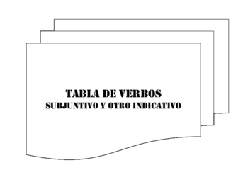 Subjunctive and Other Indicative Verb Table Packet