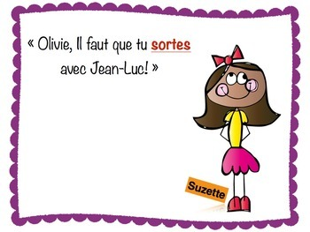 Subjunctive in French - Introduction to topic through a story