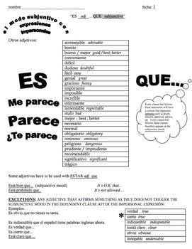 Subjunctive mode -modo subjuntivo -basic structures that provoke subjunctive