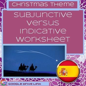 Subjunctive vs. Indicative Worksheet: Wishes & Emotions