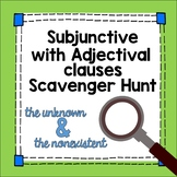 Spanish Subjunctive with Adjective Clauses Scavenger Hunt