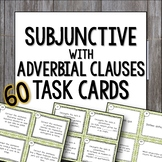 Spanish Subjunctive with Adverbial Phrases Task Cards el s
