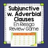 Spanish Subjunctive with Adverbial Phrases Editable Review Game el subjuntivo