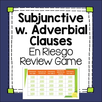Subjunctive with Adverbial Phrases Jeopardy-inspired Edita
