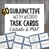 Spanish Subjunctive Task Cards with WEIRDO - el subjuntivo