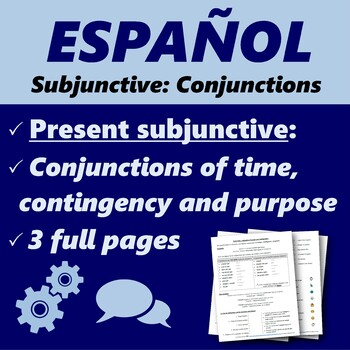 Español: Subjuntivo con conjunciones (Spanish: Subjunctive with conjunctions)