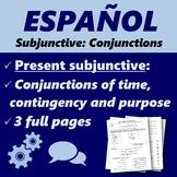 Español: Subjuntivo con conjunciones (Spanish: Subjunctive