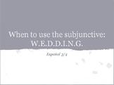 Subjunctive - W.E.D.D.I.N.G.