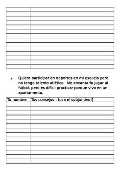 Subjuntivo: 25 situaciones para escribir consejos