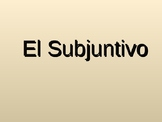 Subjuntivo en Español (Best Sujunctive PPT)