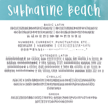 Submarine Beach Font for Commercial Use