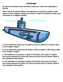 Submarine Challenge with Integers