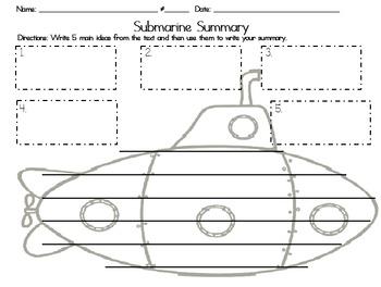 Submarine Summaries Worksheet
