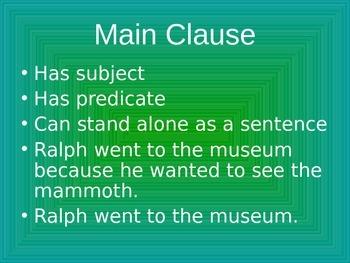 Subordinate Clauses