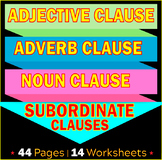 Subordinate Clauses | Adjective | Adverb | Noun Clauses |