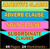 Subordinate Clauses | Adjective | Adverb | Noun Clauses |