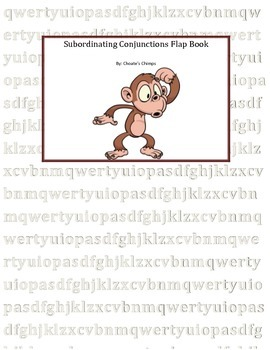 Subordinating Conjunction Flap Book