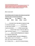Subordinating Conjunction Pretest/Post test