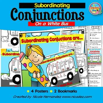 Conjunction Posters {Subordinating Conjunctions}