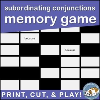 Subordinating Conjunctions Memory Game
