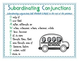 Subordinating Conjunctions Poster