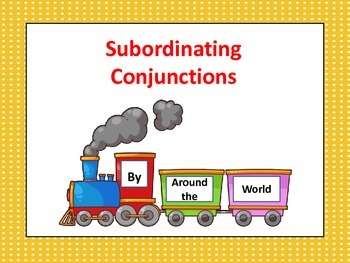 Subordinating Conjunctions Powerpoint/PDF Format
