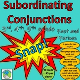Subordinating Conjunctions - Snap (90 cards - 15 conjunctions to learn)