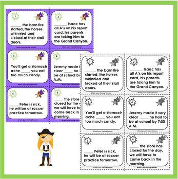 Subordinating Conjunctions Task Card FREEBIE/CCSS Grade 5