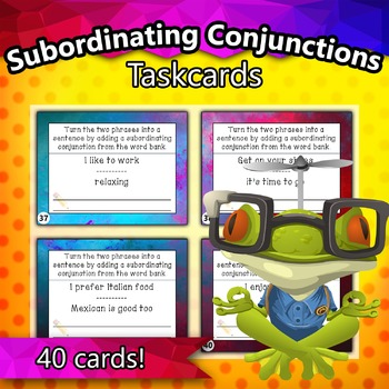 Subordinating Conjunctions Taskcards