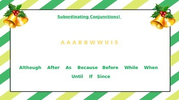 Subordinating and Coordinating Conjunctions