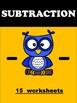 Subraction Worksheets - Homework - Practice