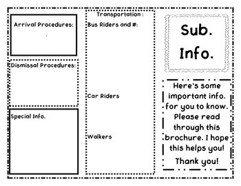 Subsitute Information Brochure