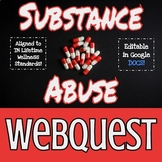 Substance Abuse Webquest Worksheet & Rubric - ZUNAL