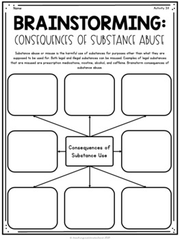 {Grade 3} Substance Use, Addictions, and Related Behaviours Activity Packet
