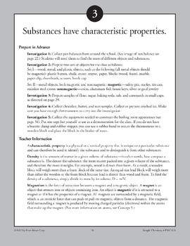 Substances Have Characteristic Properties