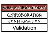 Substantiation Research Word Wall Posters