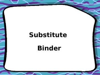Substitue Binder Cover