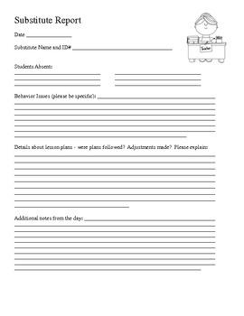 Substitue Report Form