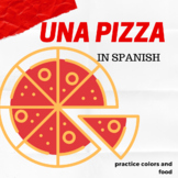Activity to practice colors and food in Spanish