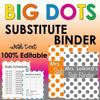 Substitute Binder - Big Dots