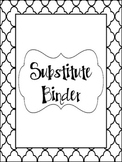Substitute Binder- Black and White