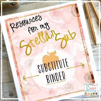 Substitute Binder - Brilliant Teacher Floral Design