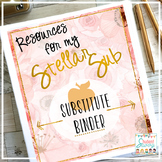 Substitute Binder - Brilliant Teacher Floral Design