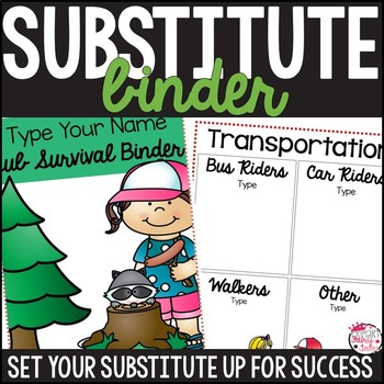 Substitute Binder :: Camping Themed
