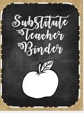 Substitute Binder (Chalkboard and Burlap!)