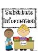 Substitute Binder Checklist