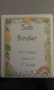 Substitute Binder - Classroom Information All In One Place!!!!!