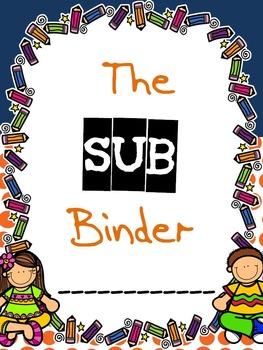 Substitute Binder Classroom Organization
