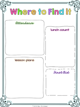 Editable Substitute Binder { Confetti Brights } The Ultimate Sub Binder Guide